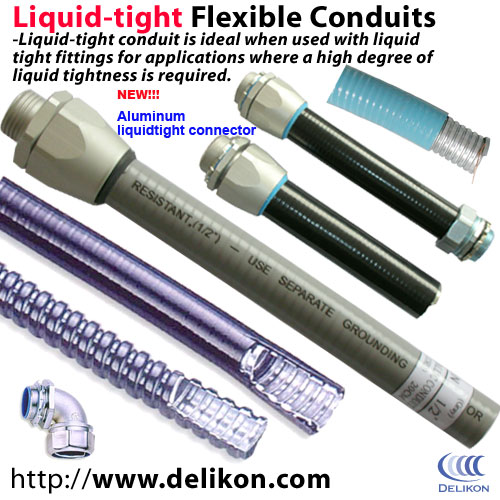 Liquid-tight Flexible Steel Conduits, Fittings