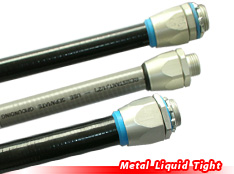 Liquid tight metal conduits